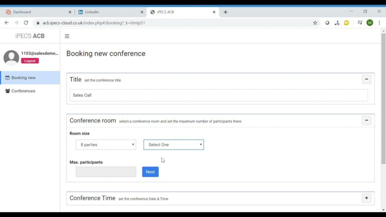 How to book a call on audio conference bridge