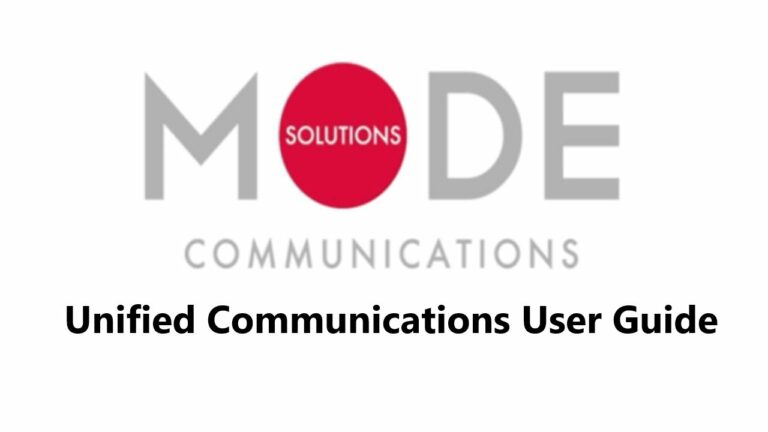 Mode Communications - UCE Overview User Guide