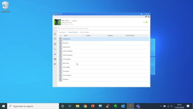 UCE Desktop - How to access and use the directory