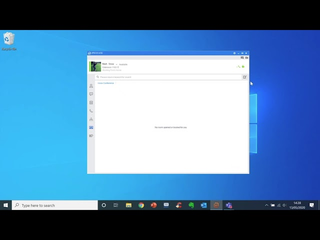 UCE Desktop - How to set up a conference call