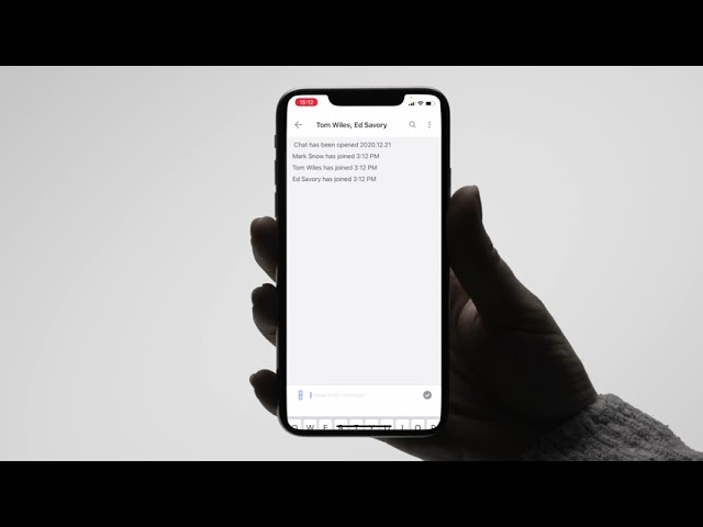 IPECS One IOS - Using Chat
